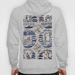 Dutch Delft Blue Tiles Hoody
