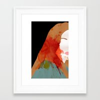 sansa stark Framed Art Prints featuring Sansa by Coleen B