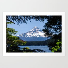Mount Hood from Lost Lake Art Print