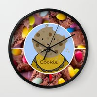 cookie Wall Clocks featuring Cookie by Jolly Songbird