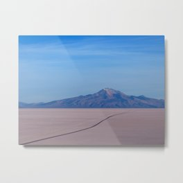Bolivia Uyuni South America - mountain landscape - blue soft colors - travel photography  Metal Print
