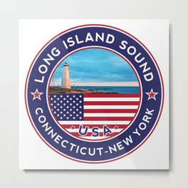 Long Island Sound, Connecticut sicker, t shirt, poster Metal Print