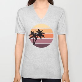 Minimalist Summer Sunset Unisex V-Neck