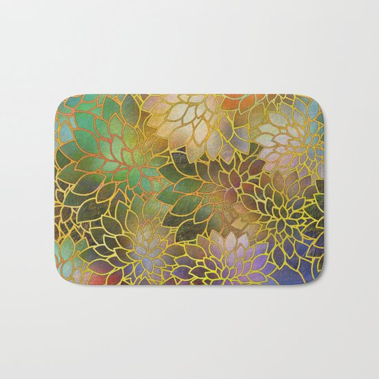 Floral Abstract 3 Bath Mat
