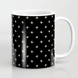 Black Vintage Lily-of-the-Valley Mini-Print Coffee Mug