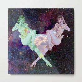 Martian Girls in Space Metal Print