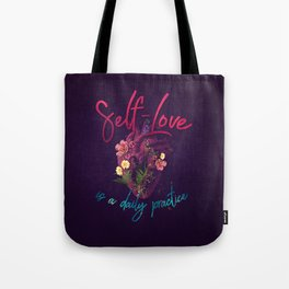 Kelly-Ann Maddox Collection :: Self-Love (Illustrated) Tote Bag