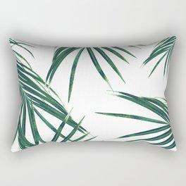 Green Palm Leaves Dream #2 #tropical #decor #art #society6 Rectangular Pillow