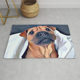 Boxer Puppy Rug