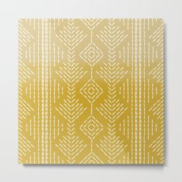 Yellow Ombre needlepoint Metal Print