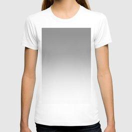 Gray to White Horizontal Linear Gradient T-shirt