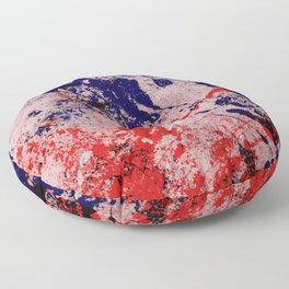 Hot And Cold - Textured Abstract In Blue, Red And Black Floor Pillow