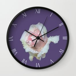Rose in Ultra Violet Wall Clock