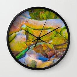 Shale & Algae Wall Clock