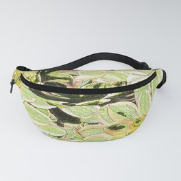 Yellow Desert Echeveria Pattern Fanny Pack