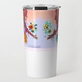 Flower Power Girl Travel Mug