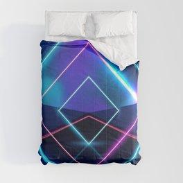 Neon Geometric Lights  Comforters