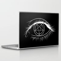 baphomet Laptop & iPad Skins featuring Window To The Soul by Purgatouri