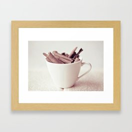 Cinnamon Cup Framed Art Print