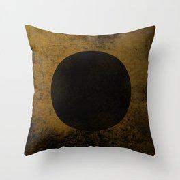 Rustic Dusk - Abstract, rustic, metallic artwork Throw Pillow