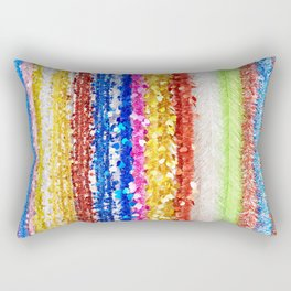 Colorful tinsel Christmas Rectangular Pillow