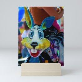 The colourful rabbit Mini Art Print