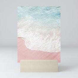 Soft Gradient Beach Mini Art Print