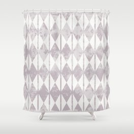 Geometric diamond shape and vertical lines pattern Shower Curtain