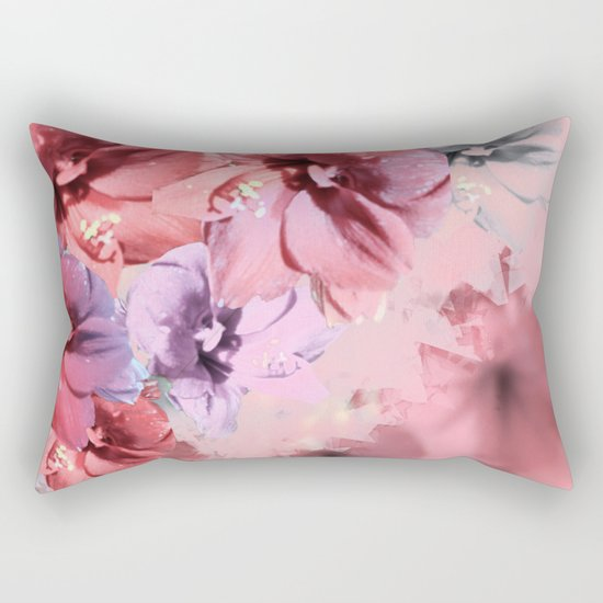 Red Flower Fantasia 2 Rectangular Pillow