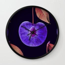Purple cherry Wall Clock
