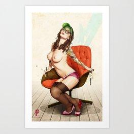 Self Portrait as a Lady No.2 Art Print