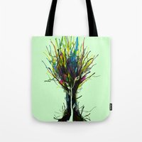 creativity Tote Bags featuring Creativity by Tobe Fonseca