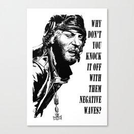 Kellys Heroes -  Oddball Says bw Canvas Print