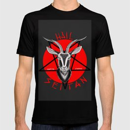 Hail seitan // vegan // baphomet T-shirt