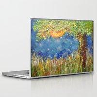 fireflies Laptop & iPad Skins featuring Fireflies by Debydear