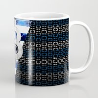 greece Mugs featuring bitcoin Greece by seb mcnulty