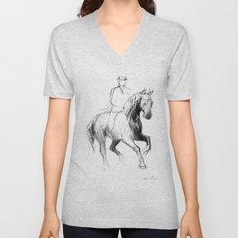 Dressage Horse Unisex V-Neck