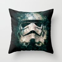 trooper Throw Pillows featuring Trooper by Sirenphotos