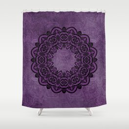Circle in Purple Shower Curtain