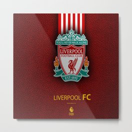 Fc Liverpool My Favorite Sport Team Metal Print