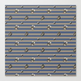 Vintage navy shells Canvas Print