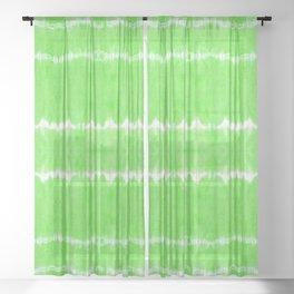 Neon Linen Shibori Lime Sheer Curtain