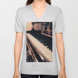 Bach's Piano Unisex V-Neck