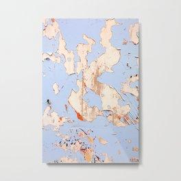 Blue on White Textures 21 Metal Print
