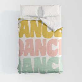 Dance in Candy Pastel Lettering Comforters