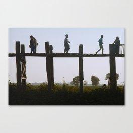 U Bein Crossing Canvas Print