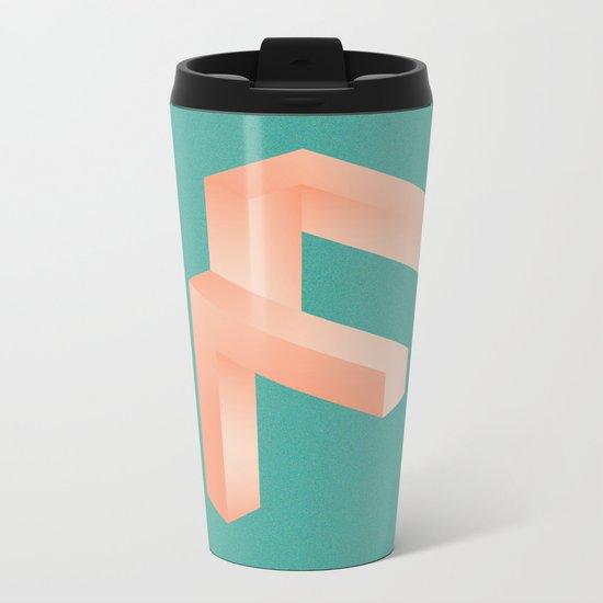 Futuristic F Metal Travel Mug