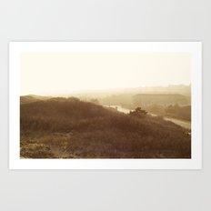 Montauk, NY Sunset Haze Art Print