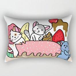 kitty dessert party Rectangular Pillow
