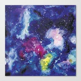 Galaxy Watercolor Canvas Print